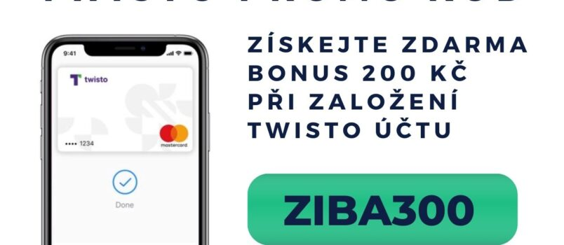 200 Kč bonus Twisto promo kód ZIBA300