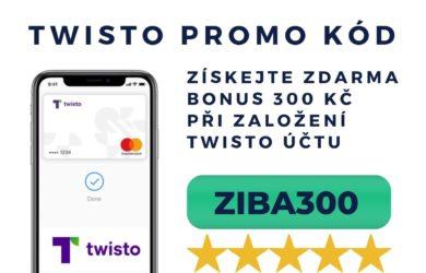 300 Kč bonus Twisto promo kód ZIBA300
