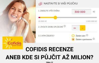 Cofidis recenze aneb kde si půjčit až milion