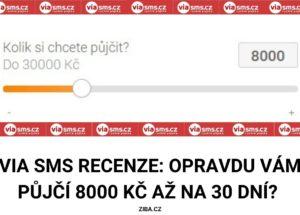 Via SMS recenze_8000 Kč na 30 dní zdarma