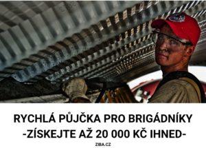 Rychlá půjčka pro brigádníky až 20 000 Kč ihned