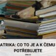 Matrika_co to je a k čemu ji potřebujete
